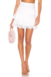 Bcbgeneration Ruffled Mini Skirt White