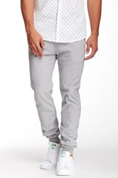 Micros Ace Twill Slim Fit Chino Jogger Gray