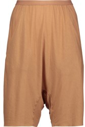 Rick Owens Lilies Stretch Jersey Shorts Tan