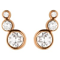 Dyrberg Kern Small Swarovski Crystal Stud Earrings Rose Gold