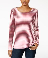 Maison Jules Striped Zip Detail Top Only At Macy's Banned Red Combo