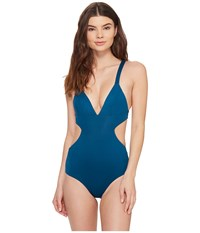 Vitamin A Ava Maillot Full Oasis Ecolux Women's Swimsuits One Piece Blue