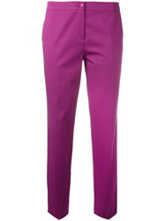 Etro Tailored Cropped Trousers Pink Purple