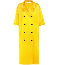 Victoria Beckham Double Breasted Coat Yellow