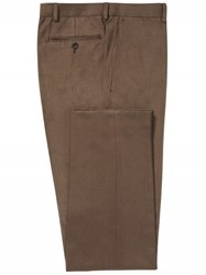 Chester Barrie Tobacco Brushed Cotton Trousers