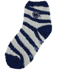 For Bare Feet Penn State Nittany Lions Sleep Soft Candy Striped Socks Navy