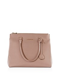 Karen Millen Large Leather Tote Nude Gold