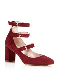 Kate Spade New York Anie Strappy Mary Jane Pumps 100 Bloomgindale's Exclusive Red Chestnut