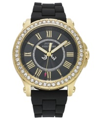 Juicy Couture Watch Women's Pedigree Black Silicone Strap 38Mm 1901069