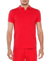 Tomas Maier Short Sleeve Tipped Polo Red