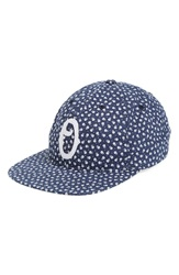 Obey 'Montrouge' Print Cap Navy Multi