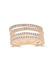 Saks Fifth Avenue Diamond And 14K Rose Gold Four Row Ring Pink