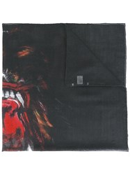 Givenchy Rottweiler Print Scarf Black