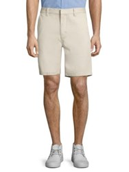 Wesc Rai Printed Cotton Shorts Light Khaki