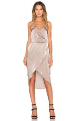 Capulet Cross Over Front Dress Taupe