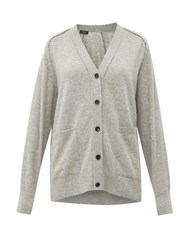 Joseph Patch Pocket Cashmere Cardigan Grey
