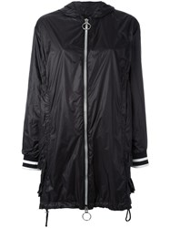 Twin Set Zipped Raincoat Black