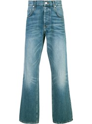 Adaptation Stonewashed Bootcut Jeans Blue