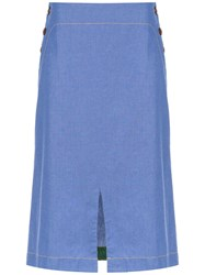 Isolda Bacuri Jeans Skirt Blue