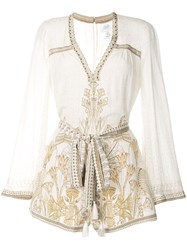 Camilla The Queens Chamber Playsuit White