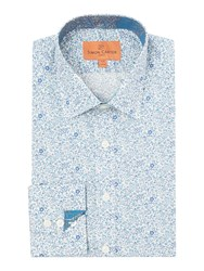 Simon Carter Liberty Tiny Flower Shirt Blue