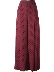 See By Chloe Polka Dot Print Palazzo Pants Pink Purple