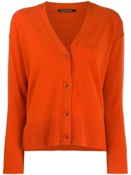 Luisa Cerano V Neck Cardigan Orange