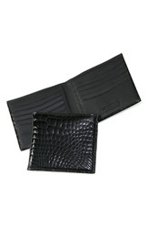 Men's Trafalgar Genuine Alligator Wallet Black