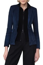 Akris Punto Women's Suede Blazer With Removable Wool Vest