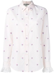 Gucci Gg Micro Rose Grid Shirt Pink Purple
