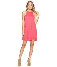 Roxy Summer Breaking Tank Dress Geranium Women's Dress Pink
