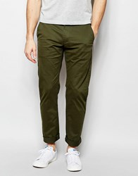Farah Chino In Slim Fit Stretch Cotton Olive Green