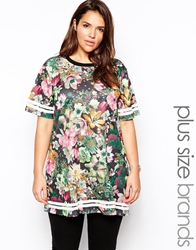 Alice And You Oversize T Shirt In Tropical Mesh Multi