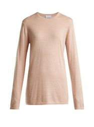 Raey Long Line Fine Knit Cashmere Sweater Nude