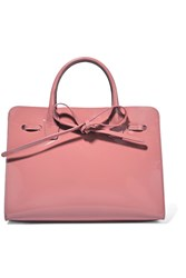 Mansur Gavriel Sun Mini Patent Leather Tote Blush