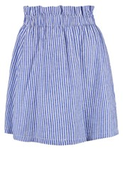 Y.A.S Yas Yaskolo Mini Skirt Blue Snow White