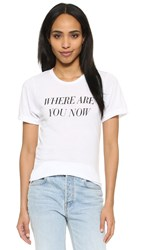 Private Party Where Are You Now Tee White