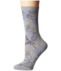 Icebreaker Lifestyle Ultra Light Crew Tiger Lily Blizzard Heather Women's Crew Cut Socks Shoes Blue