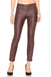 David Lerner Moto Legging Red