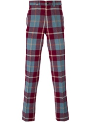 Jean Paul Gaultier Vintage Straight Leg Tartan Trousers Multicolour