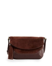 Frye Paige Small Suede Crossbody Bag Dark Brown
