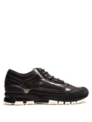 Lanvin Running Low Top Suede Trainers Black Multi