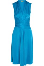 Issa Silk Jersey Dress Azure