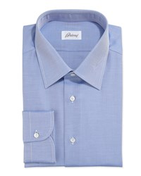 Brioni Twill Dress Shirt Blue Women's Size 17L