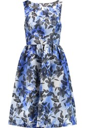 Mikael Aghal Houndstooth Jacquard Dress Blue