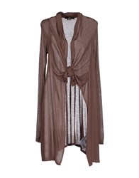 Ajay Knitwear Cardigans Women Light Brown