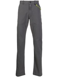 Closed Straight Leg Chino Trousers Grey