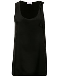 Red Valentino Loose Fit Tank Top Black