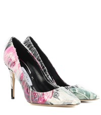 Jimmy Choo X Off White Anne 100 Floral Jacquard Pumps Multicoloured