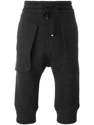Helmut Lang Cropped Trousers Black